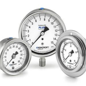 Ashcroft air pressure gauges display picture