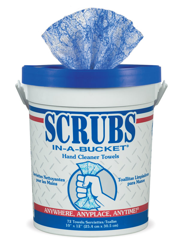 SCRUBS In-A-Bucket Hand Cleaner Towels supplier product shot